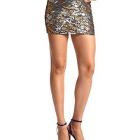 Scalloped Sequin Mini Skirt: Charlotte Russe