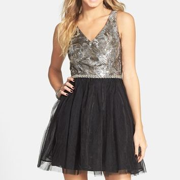 Junior Women's a. drea Sequin Bodice Tutu Dress,