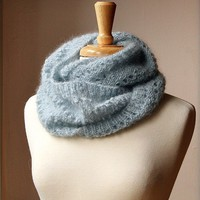 Fall Winter Fashion - Snood KNITTING PATTERN - Long Circular Scarf - Genevieve Cowl - PDF Electronic Delivery