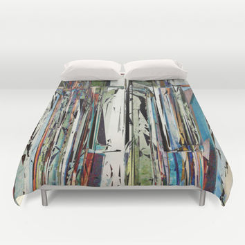 Abstract Piano Keys Duvet Cover by Phil Perkins