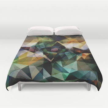 Colorful Geometric Abstract Duvet Cover by Phil Perkins