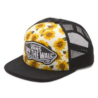 Vans Beach Girl Sunflower Trucker Hat (Sunflower (True White))