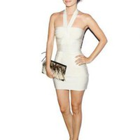 Bqueen Bow Bandage Dress White H048B