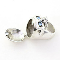Silver Sinister Secrets Skull Ring