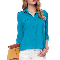 Sally Double Pocket Button Down Shirt $20