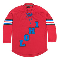 LoHi Boutique Hockey Jersey Red - Red /