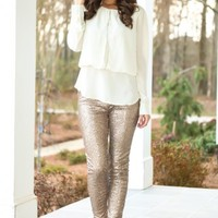Star Of The Show Blouse-Ivory