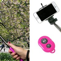 Selfie Bundle: Monopod With Bluetooth Remote for Iphone and Andorid
