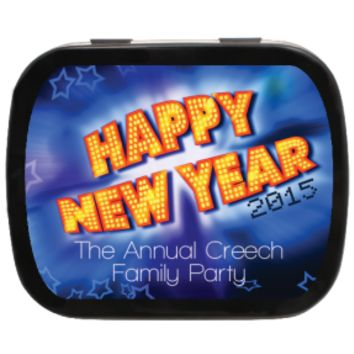 New Year Blast Personalized New Year's Mint Tins, New Years Gifts, Party Favors, Holiday Gifts
