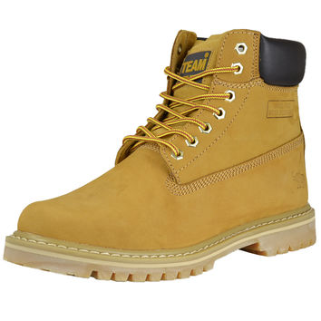 Mens Boots Water and Oil Resistant Work Or Hiking Shoes Tan SZ