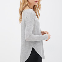 Boat Neck Heathered Top