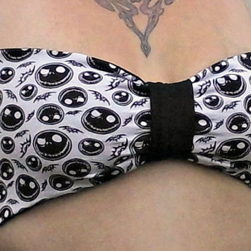 Jack Skellington BOW Bandeau Top Nightmare Before Christmas your size