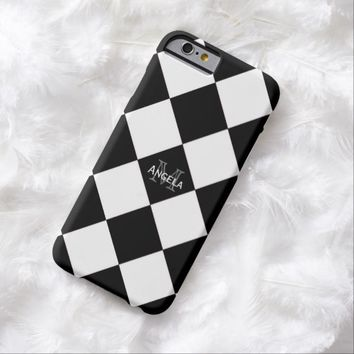 Black And White Diamond Print Case