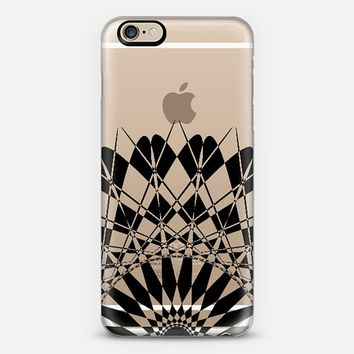 Black Half Feather Star Transparent iPhone 6 case by Organic Saturation | Casetify