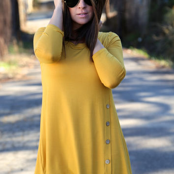 Cedar Creek Tunic - Mustard