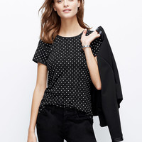 Dotted Back Zip Tee