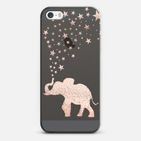HAPPY ELEPHANT ROSE GOLD iPhone 5/5s by Monika Strigel iPhone 5s case by Monika Strigel | Casetify