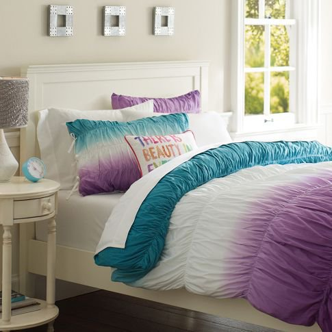 Surf dip dye ruched duvet cover from pbteen been there - A nice bed and cover for teenage girls or room ...