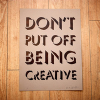 Be Creative print by HoneycombPrintShop on Etsy