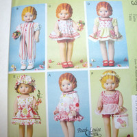 New McCalls Pattern Pearl Louise Designs vintage style doll clothes for 18 inch dolls sun dresses jumpers shorts tops
