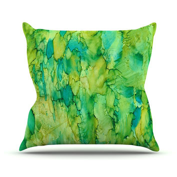 "Rosie Brown ""Going Green"" Emerald Throw Pillow"