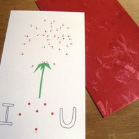 I HEART U  Connect The Dots card by sinstuff on Etsy
