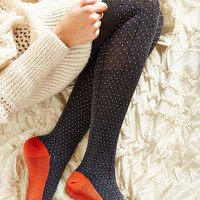 Polka Dot Colorblock Tight- Grey