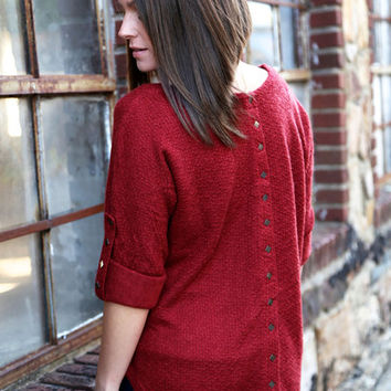 Simple In Studs {Burgundy}