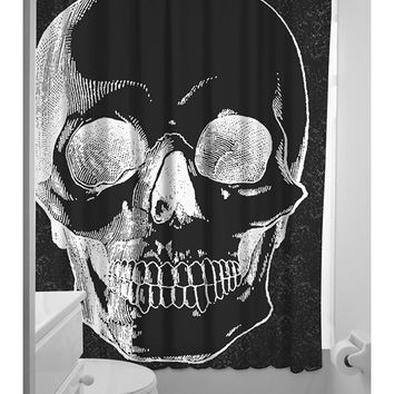 Anatomical Skull Shower Curtain by Sourpuss Clothing