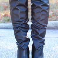 One Step Too Far Boots: Black