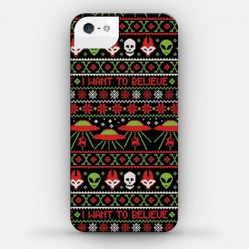 Merry X Files Christmas Ugly Sweater Pattern