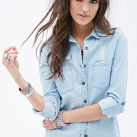 Distressed Chambray Shirt
