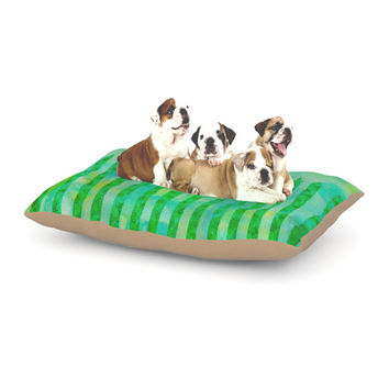 """Ebi Emporium """"Fancy This"""" Green Teal Dog Bed"""