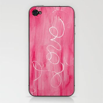 Crayon Love:  Love is Messy iPhone & iPod Skin by Catherine Holcombe | Society6