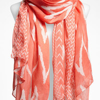 David & Young Zigzag Sheer Scarf | Nordstrom
