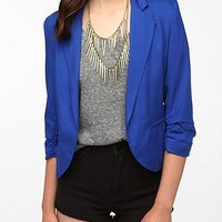 Sparkle &amp; Fade Cropped Ruched Sleeve Blazer