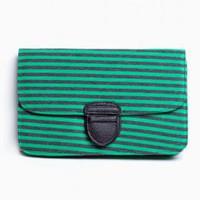 Milan Stripe Clutch - NASTY GAL