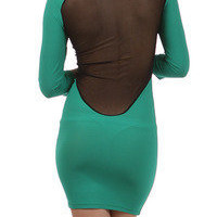 Tanny&#x27;s Couture  Solid mini dress with mesh back