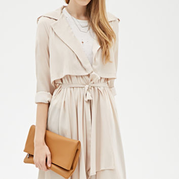 Flounced Duster Coat