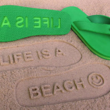 Life Is A Beach Double Layer Flip Flops by Flipside