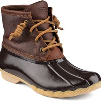 Sperry Top-Sider Saltwater Duck Boot Tan/DkBrown, Size 11M  Women's Shoes