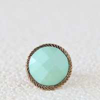 dreamy bay mint ring at ShopRuche.com