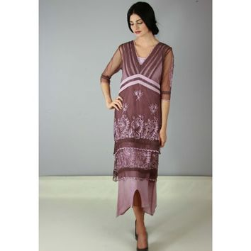 5901 Vintage Titanic Dress in Mauve
