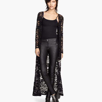 Long lace cardigan - from H&M