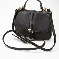 Buckled Faux Leather Crossbody