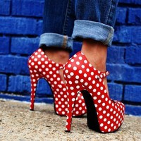 Polka Dot Pumps by Bordello