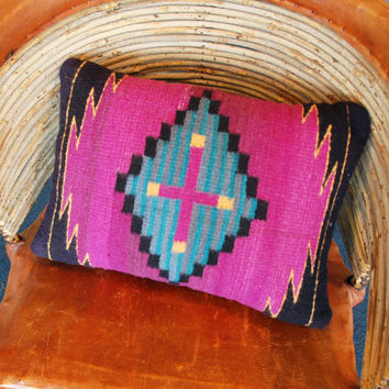 Authentic Zapotec Woven Indian Pillow - High Quality, Vintage