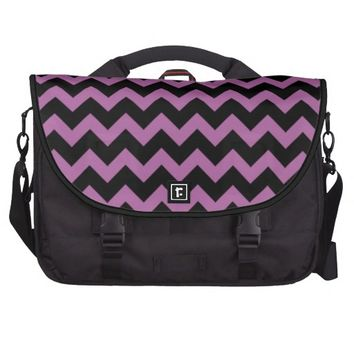 Pink Radiant Orchid & Black zigzag Chevron