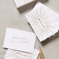 You're Cute Card Set by Anthropologie White Set Of 25 Gifts