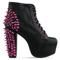 Jeffrey Campbell Lita Spike CMYK in Black Pink at Solestruck.com